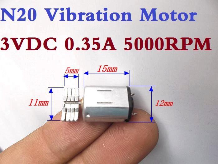 무료 배송! N20 진동 모터 3VDC 0.35A 5000RPM