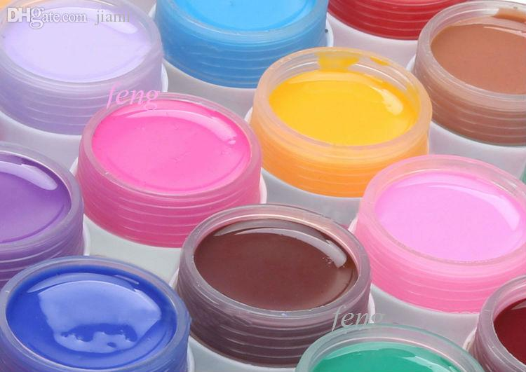 Gros-NEW 36pcs / Couleurs pures UV Gel UV Nail Gel solide Nail Polish