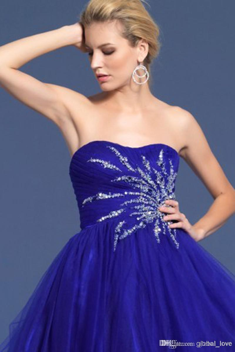 Sexy Ball Gown Sequined Homecoming Dresses Short Ruffle Beaded ...