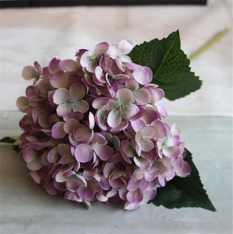 "Silk Single Stem Hydrangea 55cm/21.65"" Length 24Pcs Artificial Floral Hydrangeas for DIY Wedding Bridal Bouquet Accessories"