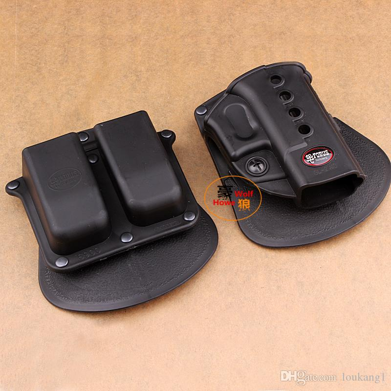 Fobus Evolution Holster RH Paddle GL-2 ND for G 17/19/22/23/27/31/32/34/35 6900RP Double Mag Pouch G 9 40 HK 940