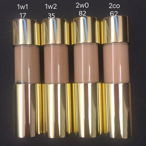 ¡De primera calidad con el mejor precio! Nuevo cojín de aire doble del desgaste del maquillaje BB 2 colores 1W1 y 1W2 para elegir el envío libre rápido