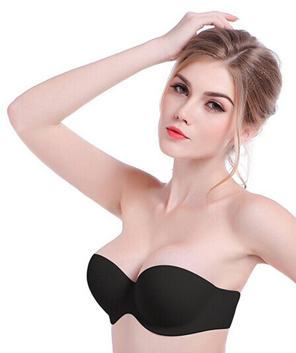 2017 High Quality Silicone Self Adhesive Bra Women Bra Strapless ...