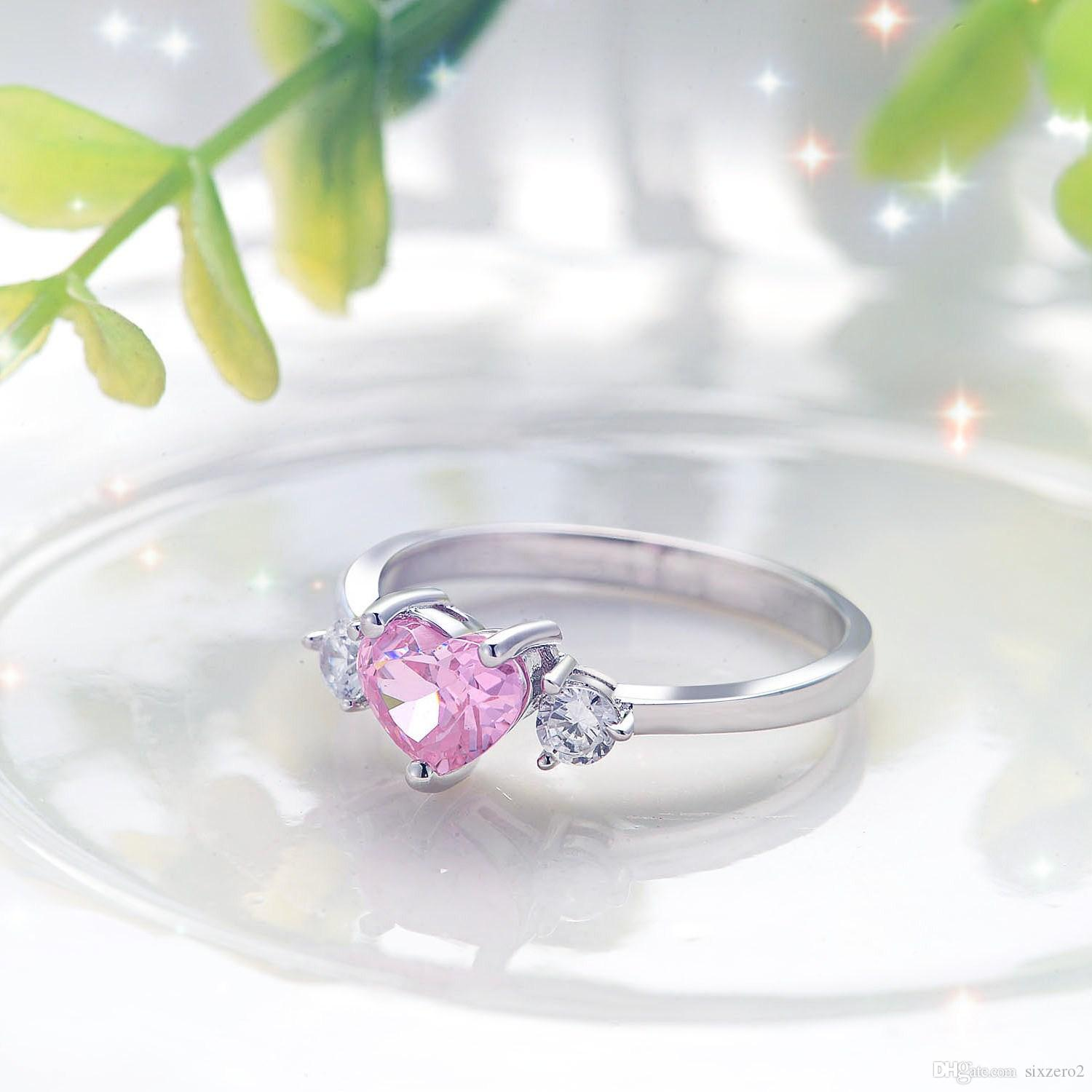 sterling diamond wedding miabella ip pink en accent shaped silver plated heart promise canada rhodium ring rings walmart