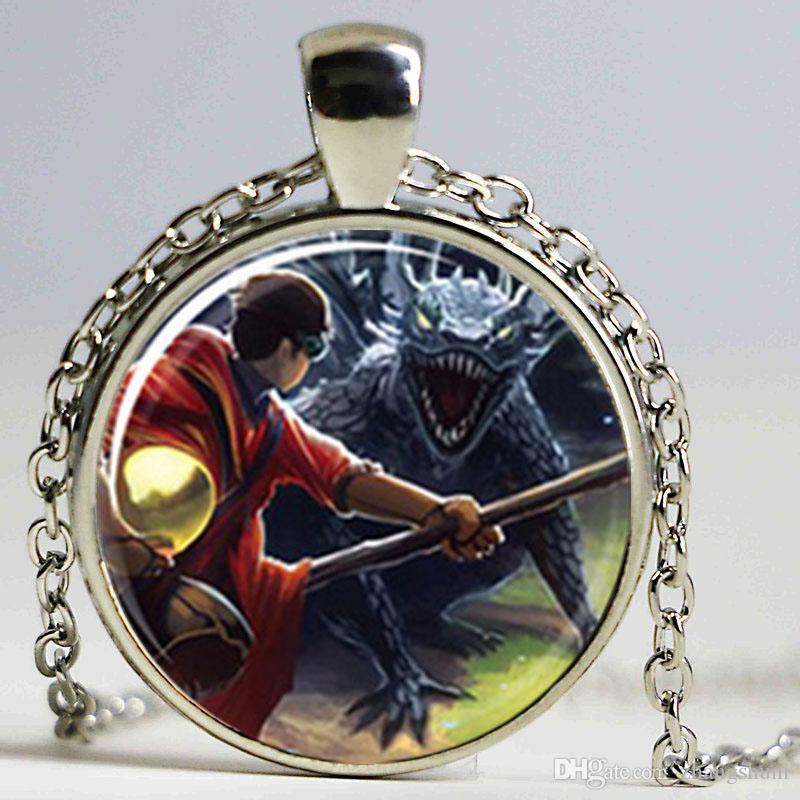 Harry e l'ungherese Horntail HP e l'oblet di Fire Book Cover Glass Necklace
