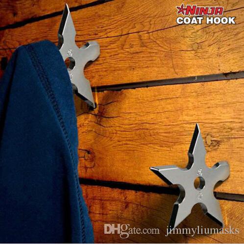 5 Pieces Ninja Throwing Death Star Coat Hook / Ninja Star Coat Hook