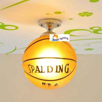 Baby room basket ball led ceiling lights coffee shop Bar New arrival glass ceiling lights children room bedroom kid's room hanging lamp