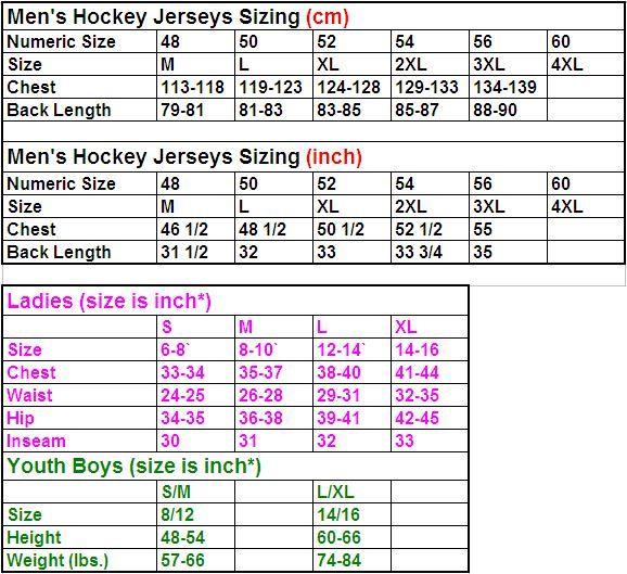 hockey-size-chart
