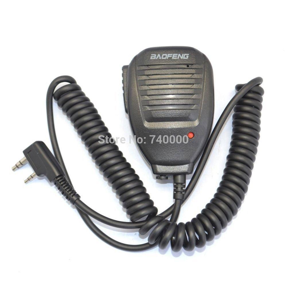 Free Shipping Radio Speaker MIC For BAOFENG Walkie Talkie UV-5R 5RA 5RB 5RC 5RD 5RE 5REPLUS
