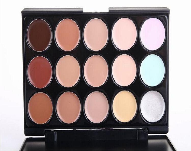 Mejor Perfecto 15 Color Neutral Partido Maquillaje Sombra de Ojos Camuflaje Corrector Facial Paleta Sombra de Ojos Profesional de alta calidad Envío Gratis DHL