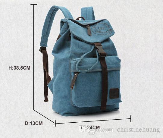 للجنسين خمر قماش ظهره حقيبة سفر التخييم الإرتحال حقيبة كلية حقيبة مدرسية