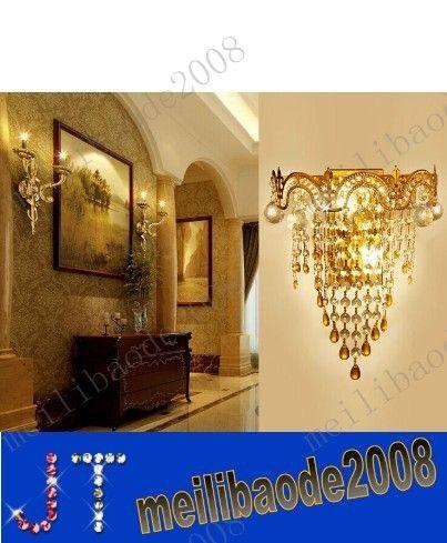 FREE SHIPPING Modern crystal wall lamp modern Crystal Sconce wall Lights living room wall lamp lamps k9 crystal Lighting MYY3145A