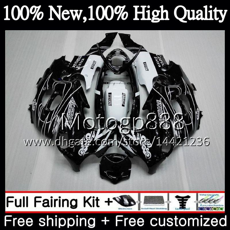 Cuerpo negro CORONA para SUZUKI KATANA GSXF 600750 GSXF600 98 99 00 01 02 21G817 GSX600F GSXF750 1998 1999 2000 2001 2002 Carenado de motocicleta