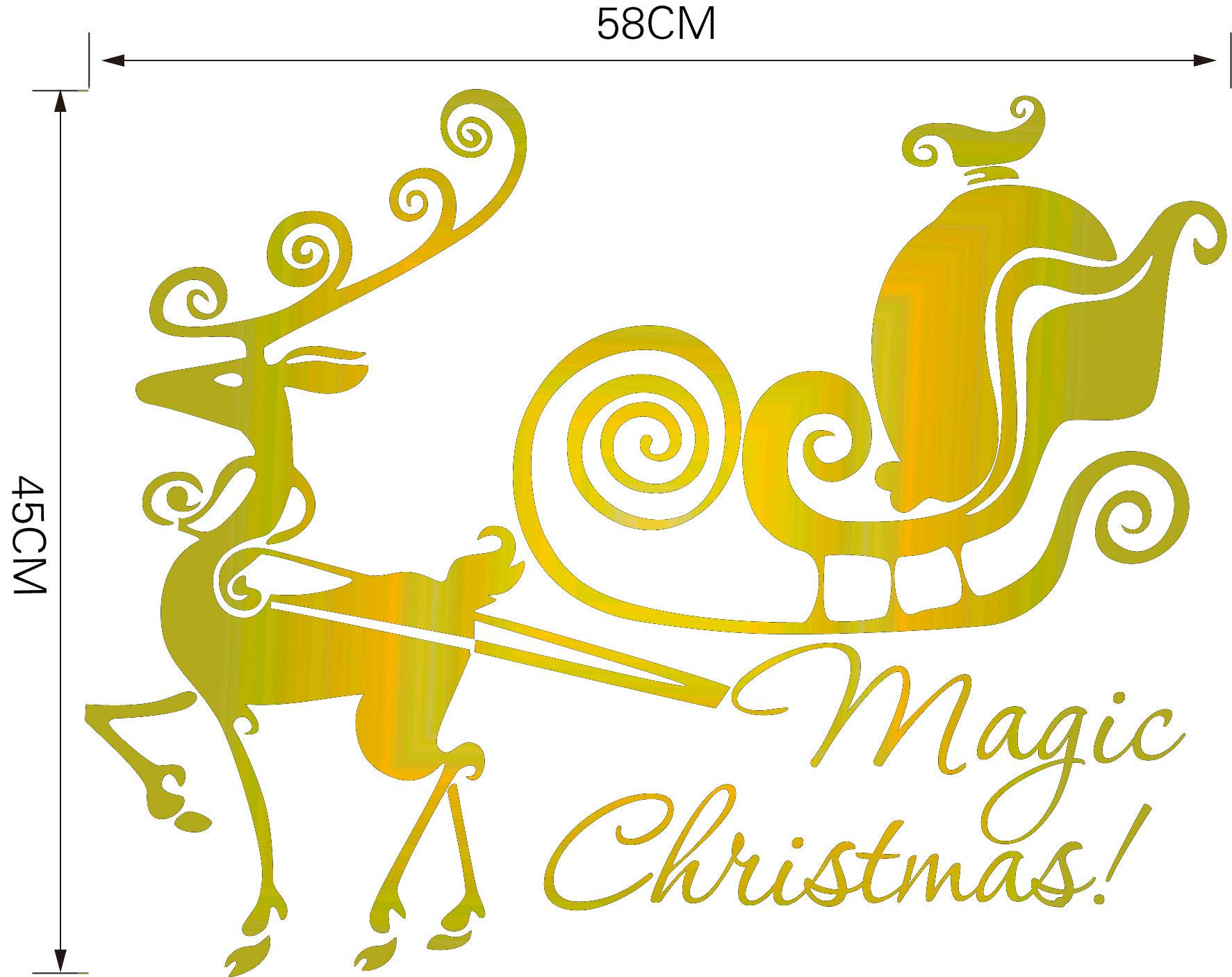 Christmas Decoration decal home wall Wallpaper Vinyl Wall Sticker Merry Christmas Ornament Vinilos Decorativos Christmas Products