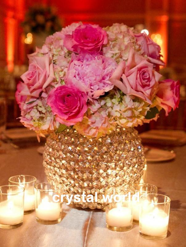 Bröllopsblomma Stativ Centerpieces och Crystal Flower Stand