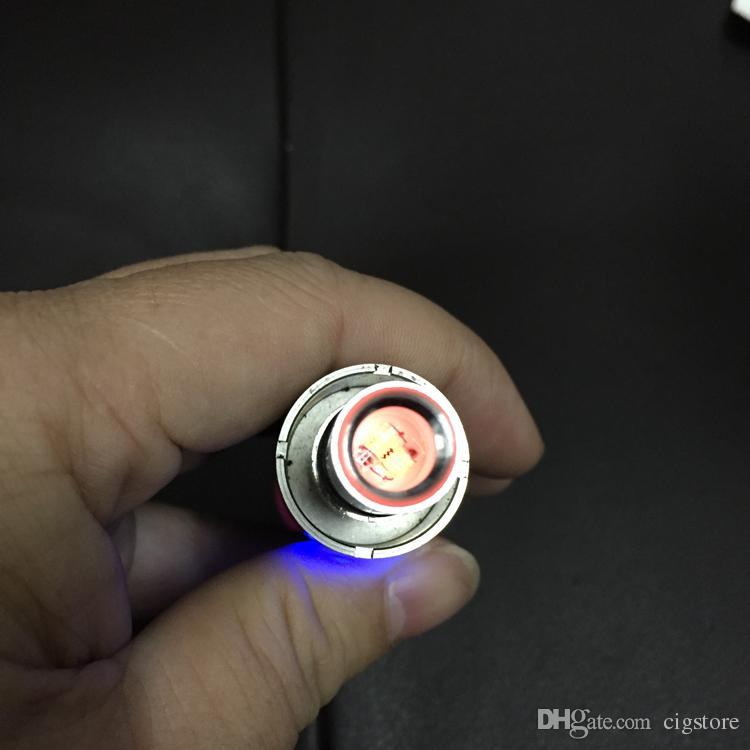 Aço inoxidável SS vopor atomizador de cera de boliche Canhão vapor Duplo cabeça bobina bobinas de cera erva vaporizador mod Canhão de cera Ego Skillet atomizador