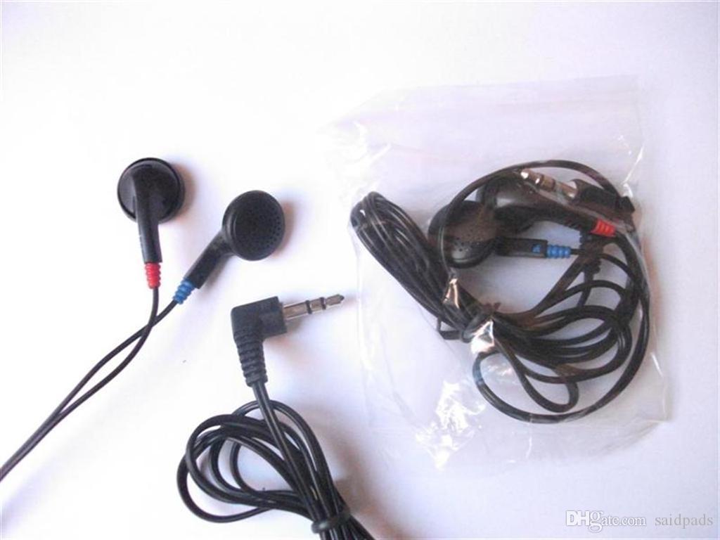 500 stücke Einweg Ohrhörer Schwarz Kopfhörer Günstige Kopfhörer Niedrige Kosten Erbuds Für Schule, Hotel, Turnhallen, Krankenhaus