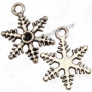 jewelry components metal charms diy bracelets necklaces pendants christmas snowflake antique silver hand bags crystal setting 18mm 500pcs