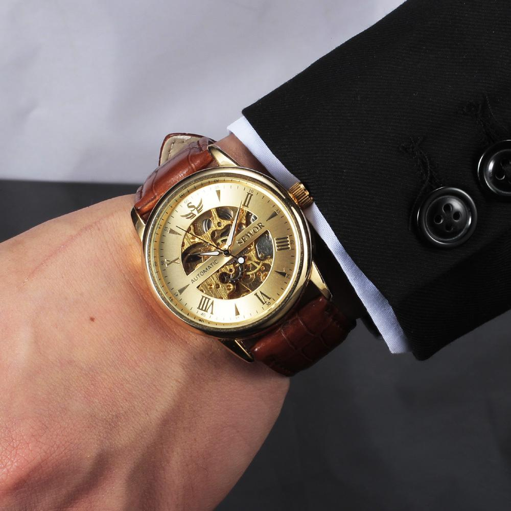 buy casual fashion men s watches men luxury brand skeleton dial buy casual fashion men s watches men luxury brand skeleton dial leather strap mechanical watch vintage reloj dress relogio masculino gold watches expensive