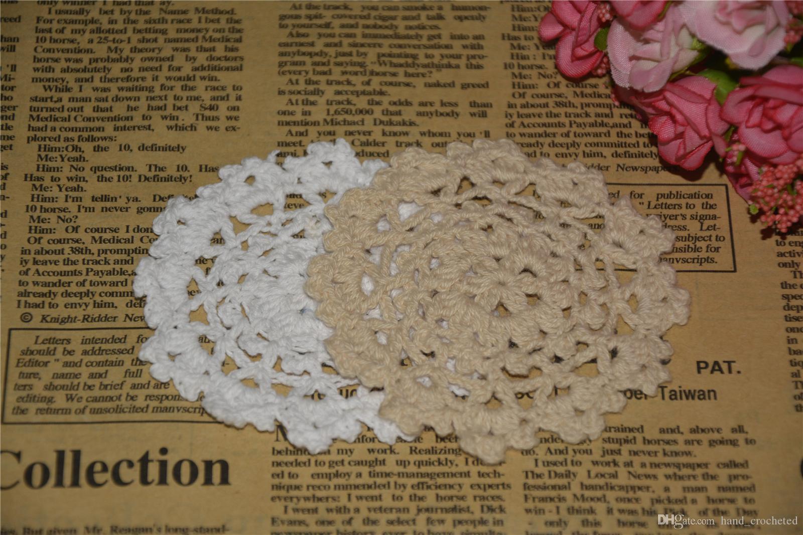 DIY Design Wedding Handmade Crochet Coasters Doily Placemats Crocheted Doilies Size 3.5 inches 30 PCS/ LOT Custom Color _DSC0086