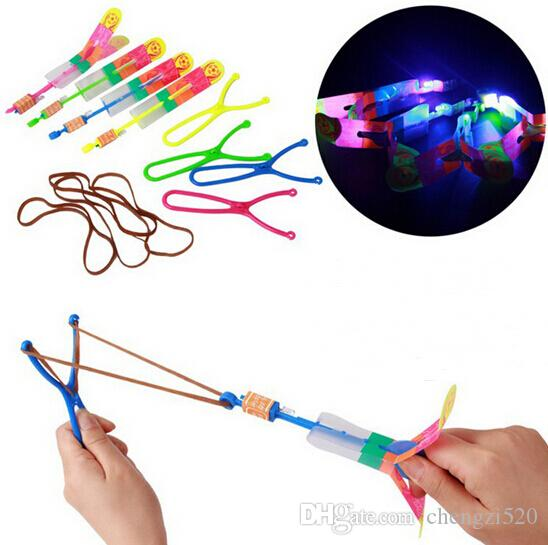 Novelty Kids LED Flying Toys Biggest Size Slingshot Amazing Arrow Helicopter for Birthday Party Supplies YH004