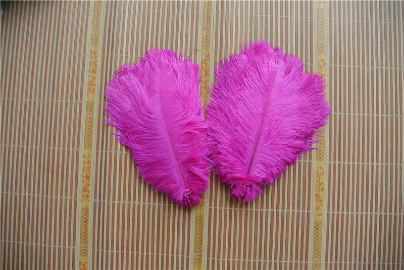 Бесплатная доставка 100 шт. / лот 20-25 см ярко-розовый страусиное перо шлейф для свадьбы центральным декор событие декор