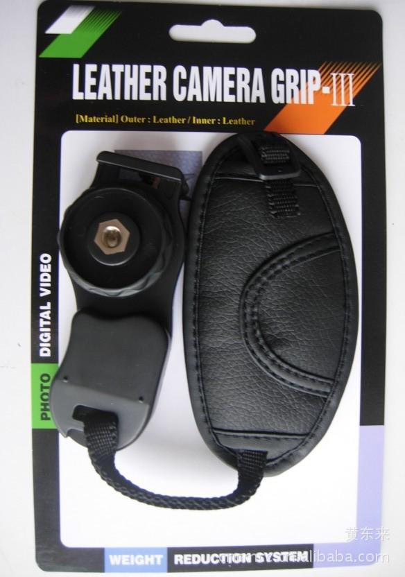 High Quality PU Leather Soft Hand Grip Wrist Strap for Nikon Canon Sony SLR/DSLR Camera w/ retail box