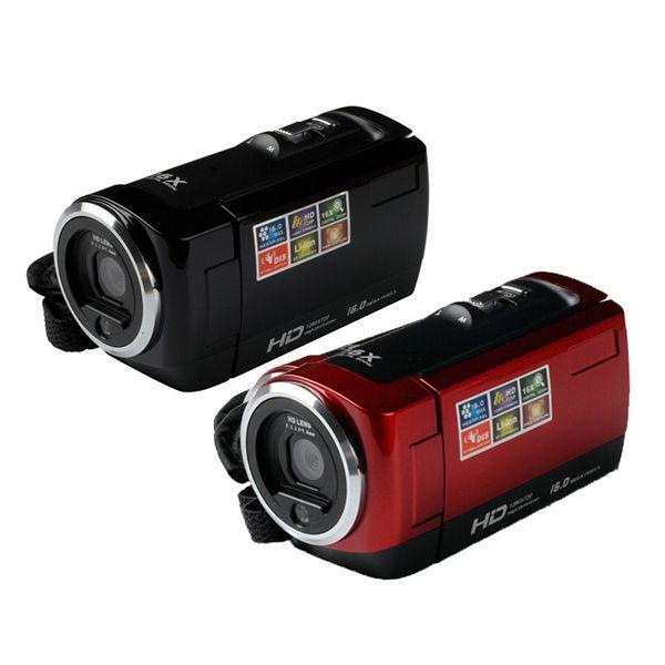 """Новая видеокамера CMOS 16MP 2,7"""" TFT LCD видеокамера 16X цифровой зум противоударный DV HD 720P Recorder Красный Черный"""