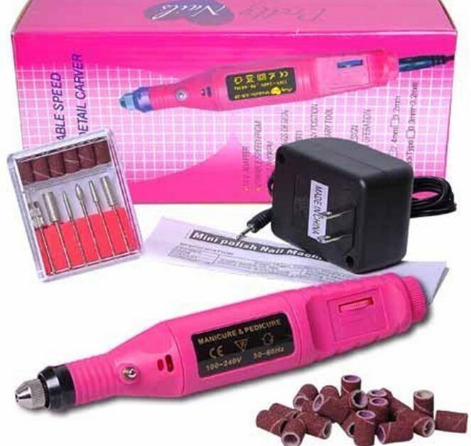 Trapano per unghie elettrico Macchina Art Salon Manicure File Strumento polacco + 6 bit pedicure 20000RPM (100V ~ 240 V) DHL GRATUITO JJD1925