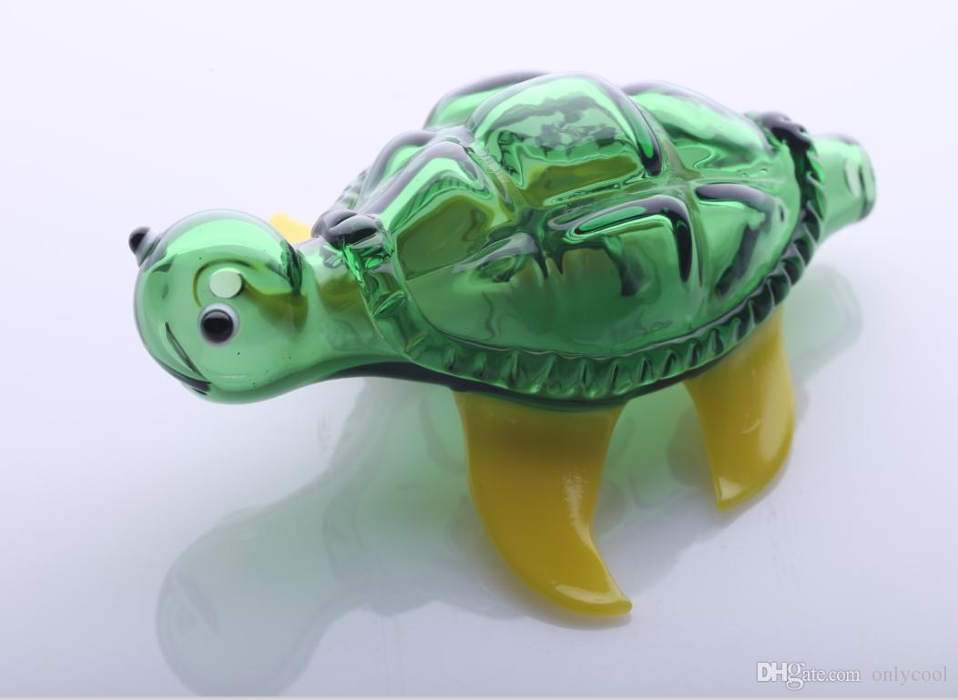 Cool Pipes Part - 24: ... Green Fashion Turtle Glass Pipes Novelty Glass Smoking Pipe Animal  Glass Pipes Totally Cool ...