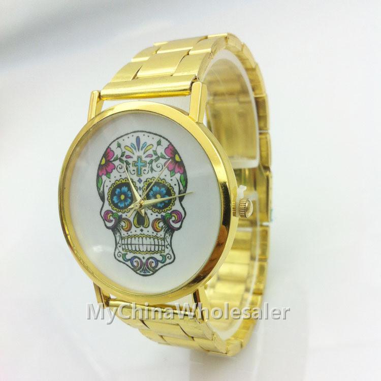 스테인레스 캐주얼 시계 패션 골드 석영 아시아 중국어 국립 세관 특수 디자인 마크 디자인 여성 명품 손목 시계