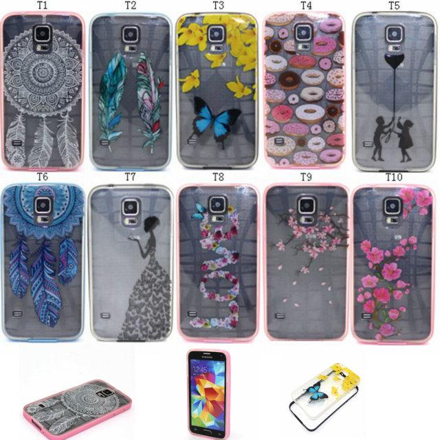 save off 9c0c3 fdcab For Samsung Galaxy S5 S6 EDGE Plus Grand Prime Core A5 E5 2 In One Colorful  Cartoon Cute Clear Skin Back Bumper Cover Case Leather Phone Cases Cell ...