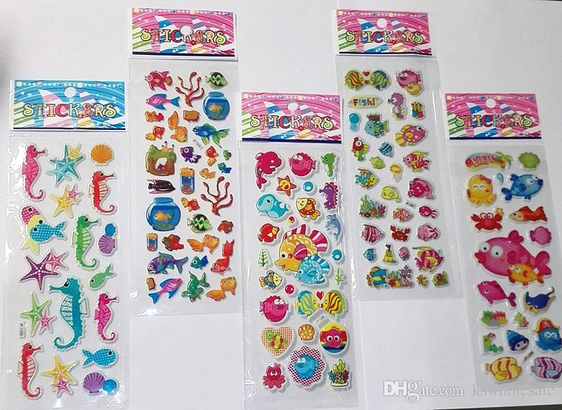 Wholesale!3D Fun Puffy Cartoon love Kids Crafts Stickers-kids Reward stickers