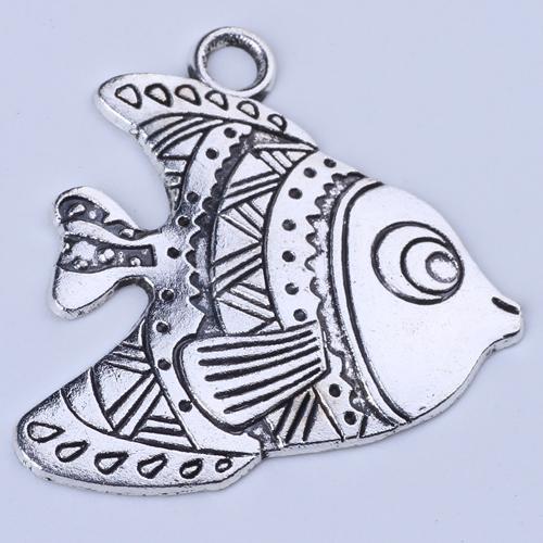 Retro O peixe pingente de prata / cobre DIY jóias pingente fit Colar ou Pulseiras de 200 pares / lote # 1379