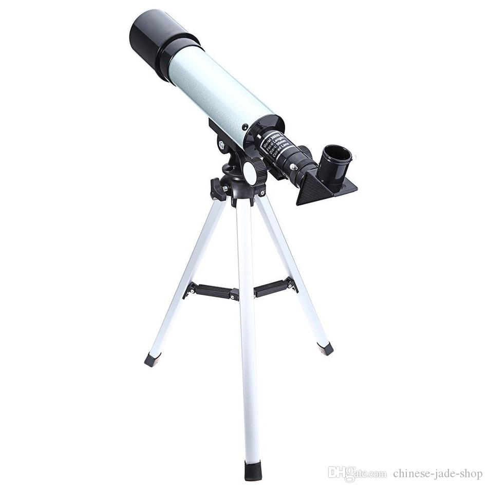 F36050 360/50mm Outdoor Monocular Astronomical Telescopes Spotting Scope Refractive with Portable Tripod 1pc/lot