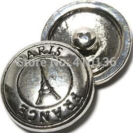 NSB1326 Gorąca Sprzedaż Przycisk biżuterii dla bransoletki Naszyjnik Moda DIY Jewelry Tower Snaps Wieża Eiffla Paryż Przyciski