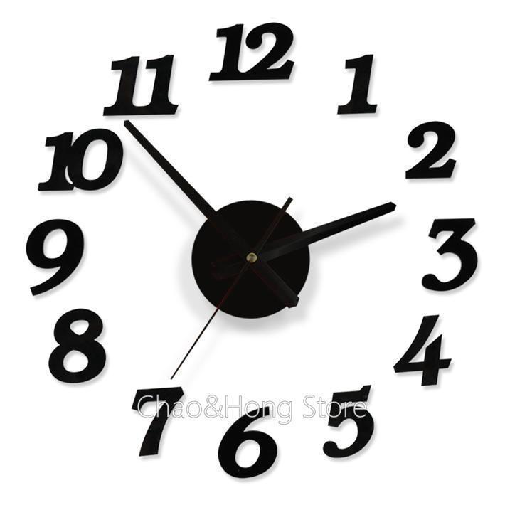 Quality acrylic crystal interesting diy clock comb...