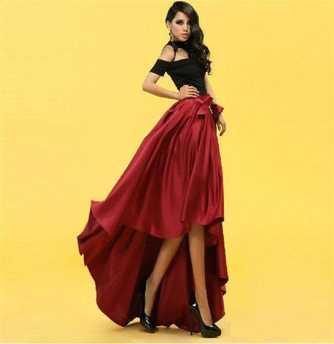 811224f40 Faldas de cintura alta de la manera del partido del tutú de la falda larga  cola ...