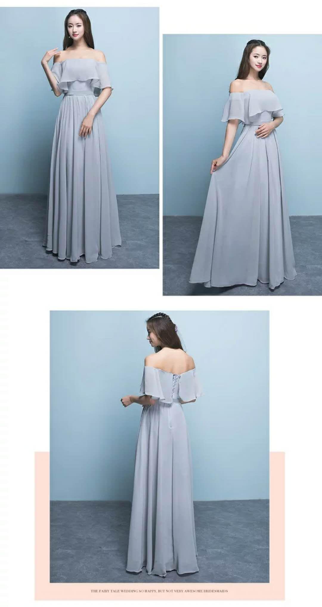 Winter Gray Bridesmaid Dress Bridesmaid Dress Long 2017 New Slim ...