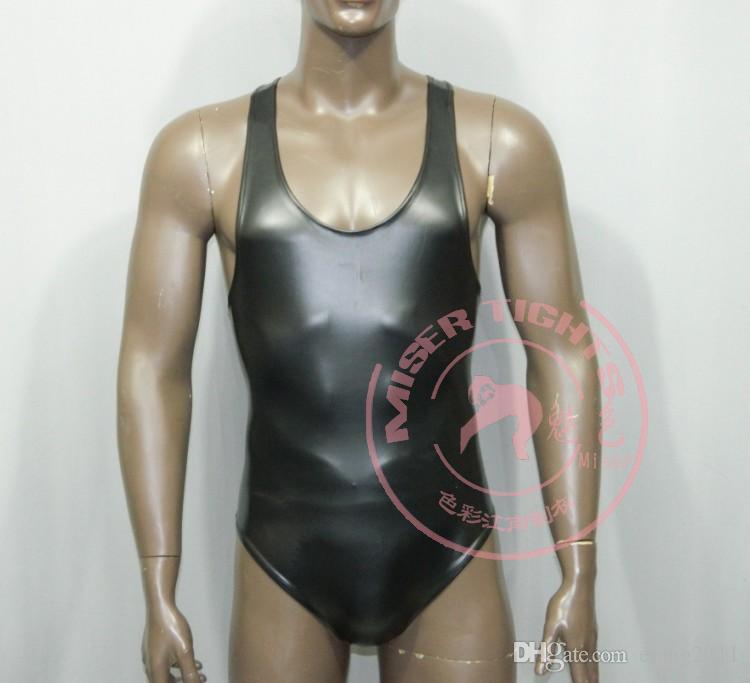 2016 heiße BDSM Latex ärmelloses sexy Catsuit Kostüme Dessous Anzüge Club Wear für Männer Freies Verschiffen BDSM Sex Toys Bijpl Dhbvi