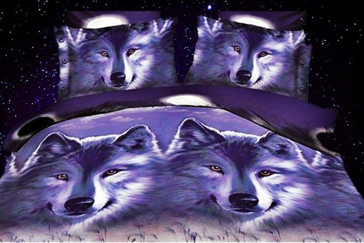 3d Wolf Bedding Sets Queen Full Size, Wolf Bed In A Bag Queen
