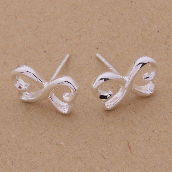 Мода (изготовление ювелирных изделий) 40 шт много 8-образной серьги стерлингового серебра 925 заводская цена мода обуви серьги