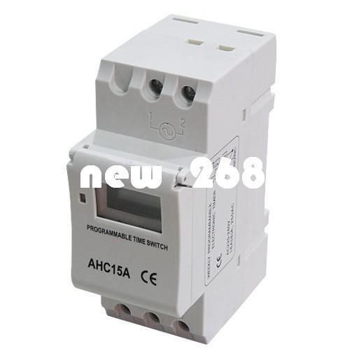DHL or EMS 6pcs Timer switch Digital LCD Power Weekly Programmable Timer Microcomputer Electronic AC 220V 16A Time Relay Switch