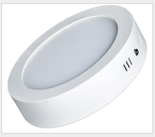 AC85-265V LEDパネルライト6W 12W 18Wの表面実装ライト高ルーメンダウンライトラウンドスクエア