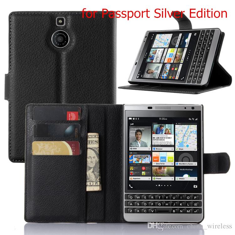 BB Priv Luxury Business Style Flip Wallet PU Leather Case Cover For Blackberry Passport Q30 Cell Phone Case With Card Holder Stand