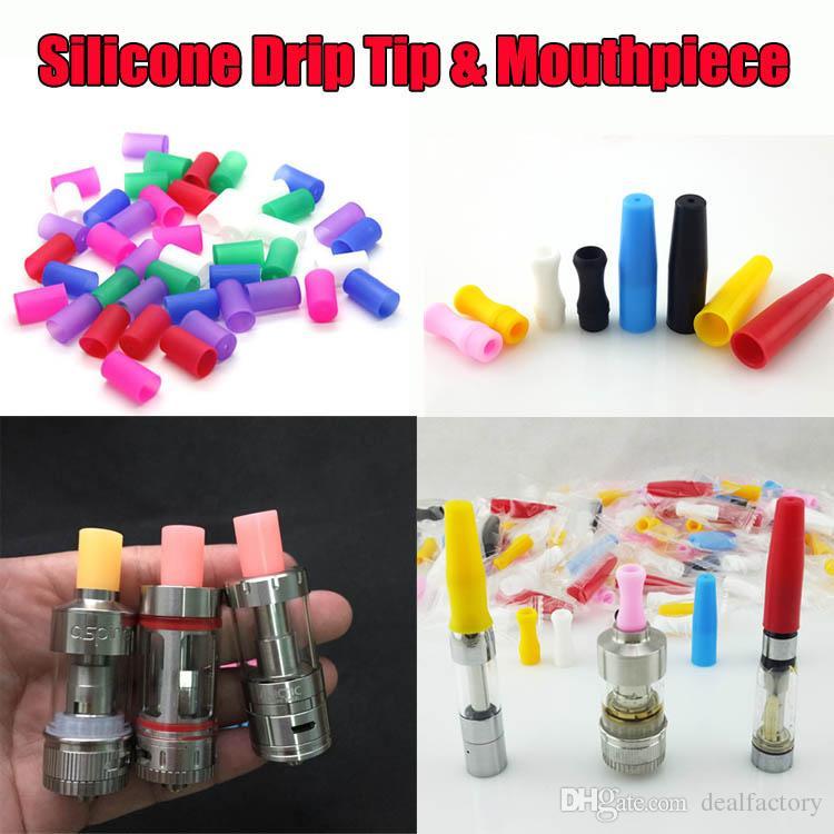 Disposable Silicone Mouthpiece Drip Tips For E Cigs Assorted Acrylic Rainbow Cartridges 510 Cover Caps Tip For Atlantis Subtank Mini Nano