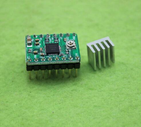 محفظة 5pcs A4988 stepstick السائر موتور سائق وحدة تحكم الطابعة 3D RAMPS