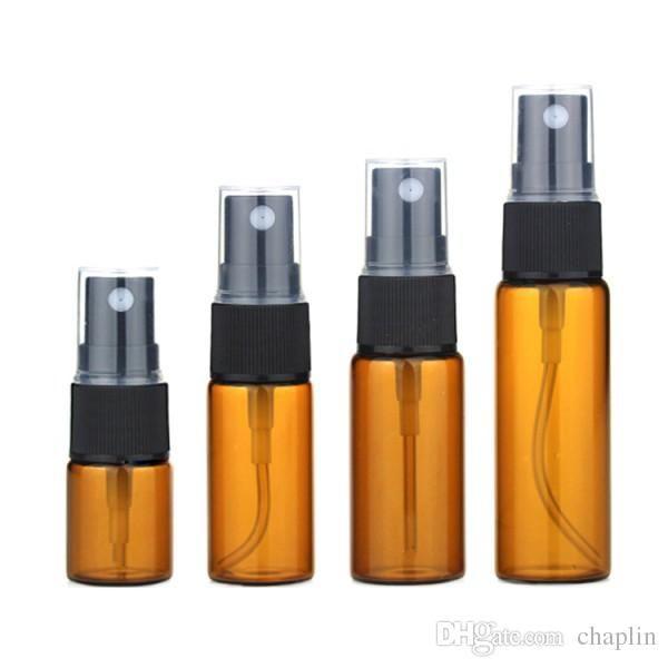 3 5 10 15 20 ml de verre ambre rechargeable bouteille d'atomiseur d'atomiseur de bouteille de parfum flacon flacon fine brume vide échantillon cosmétique conteneur cadeau