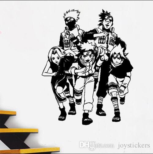 Anime Karikatür Naruto Uzumaki Naruto Serin Propile PVC Oymak Çevre Duvar Sticker Çıkartması Ev Dekorasyonu