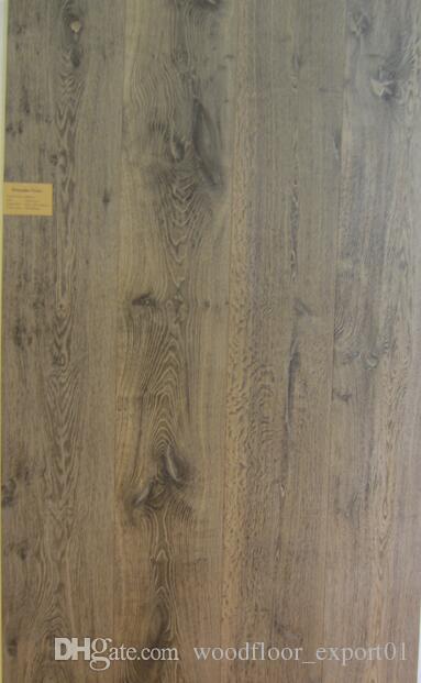 Oak 3-layer Engineered Wood flooring Large living room floor European style Antique room floor Crack floor European